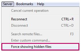 نمایش فایلهای hidden در فایلزیلا